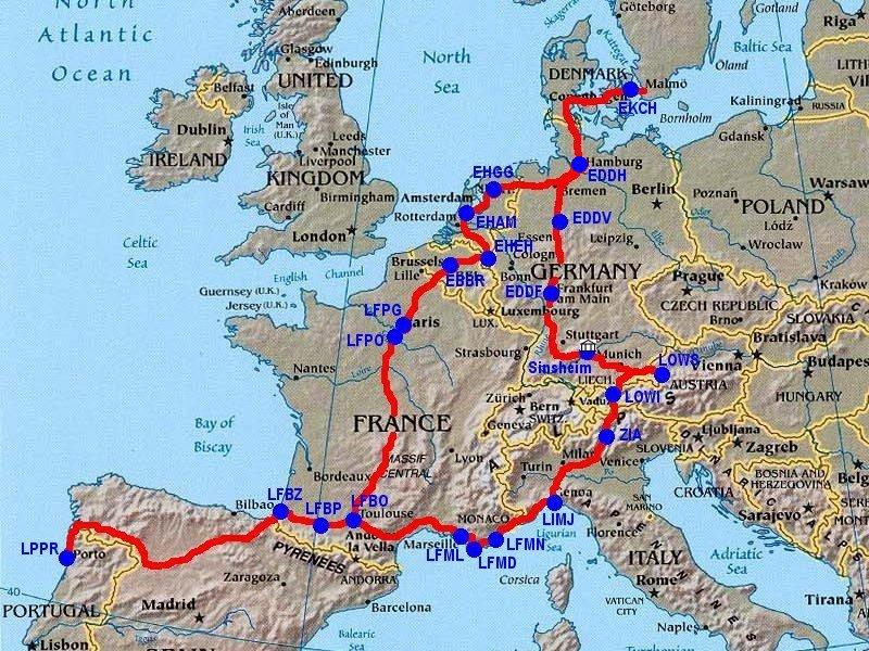 Volta pela Europa 2005